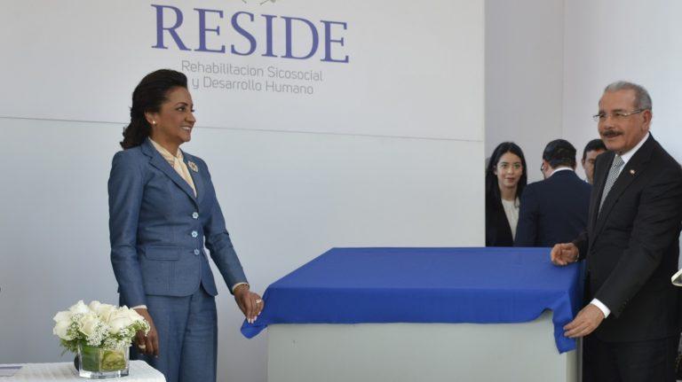 Presidente Medina y primera dama entregan RESIDE, centro que reinsertará a ciudadanos con enfermedad mental
